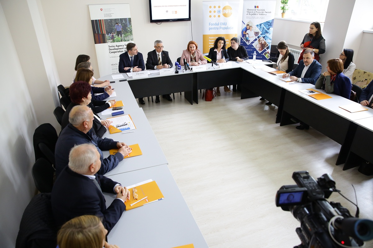 High level commitment for the prevention of cervical cancer in the Republic of Moldova.