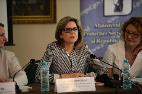 Directoarea Regională UNFPA pentru Europa de Est și Asia Centrală Alanna Armitage