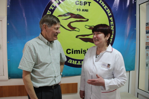 UNFPA expert during the visit to Cimislia