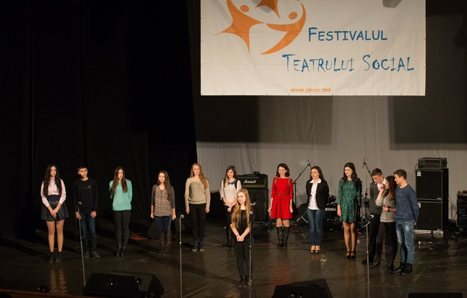One of the teams participating in National Social Theater Festival 2015.