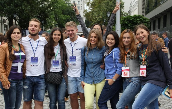 Young people celebrating International Youth Day