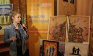 """Doina Brodescu și tabloul ei """"Calea spre egaliatea de gen"""""""