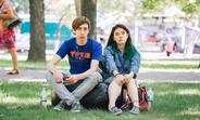 Cristi and Irina, Y-Peer trainers in the parc